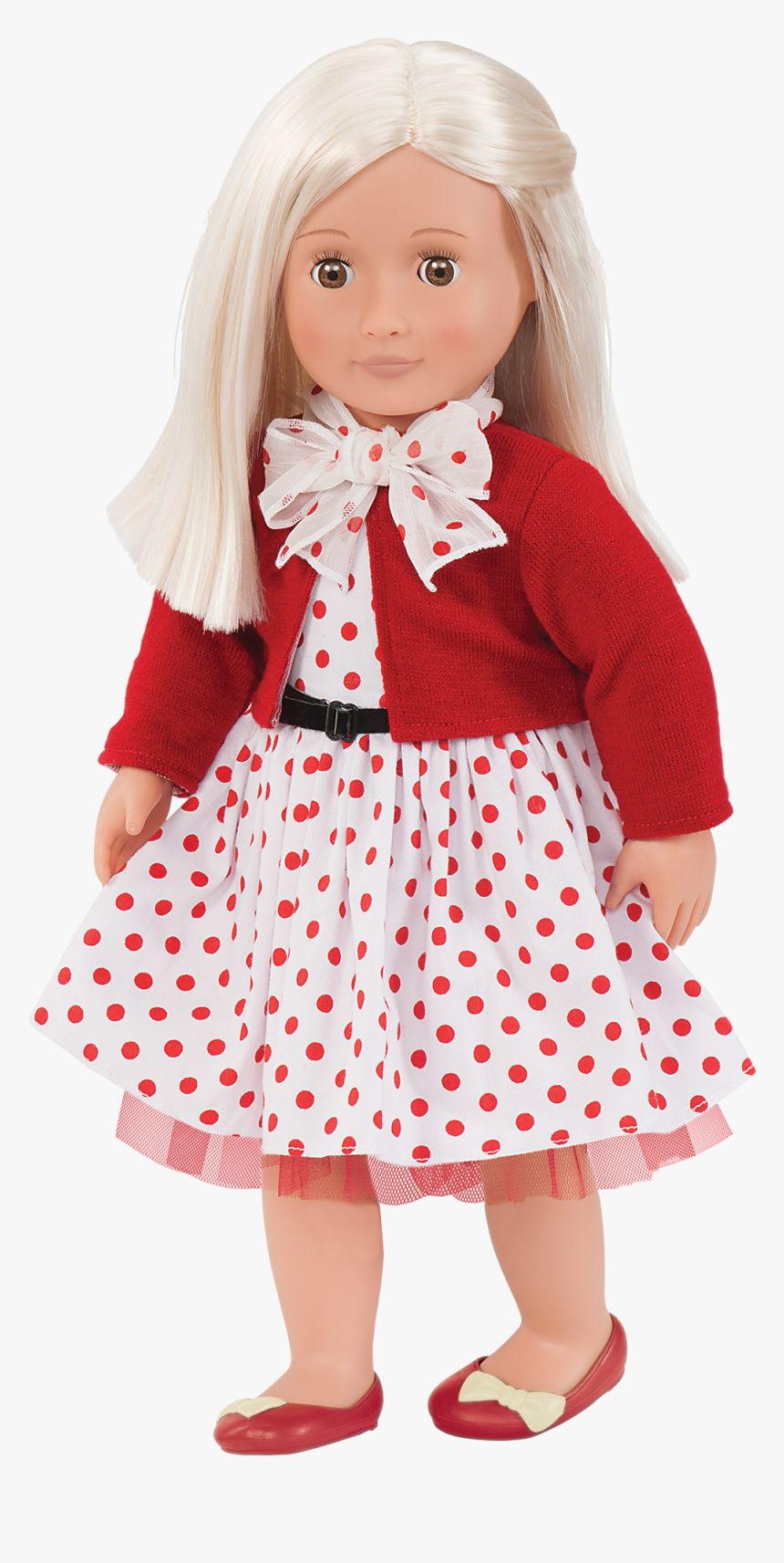 Rose Retro 18-inch Doll With Polka Dot Dress, HD Png Download, Free Download
