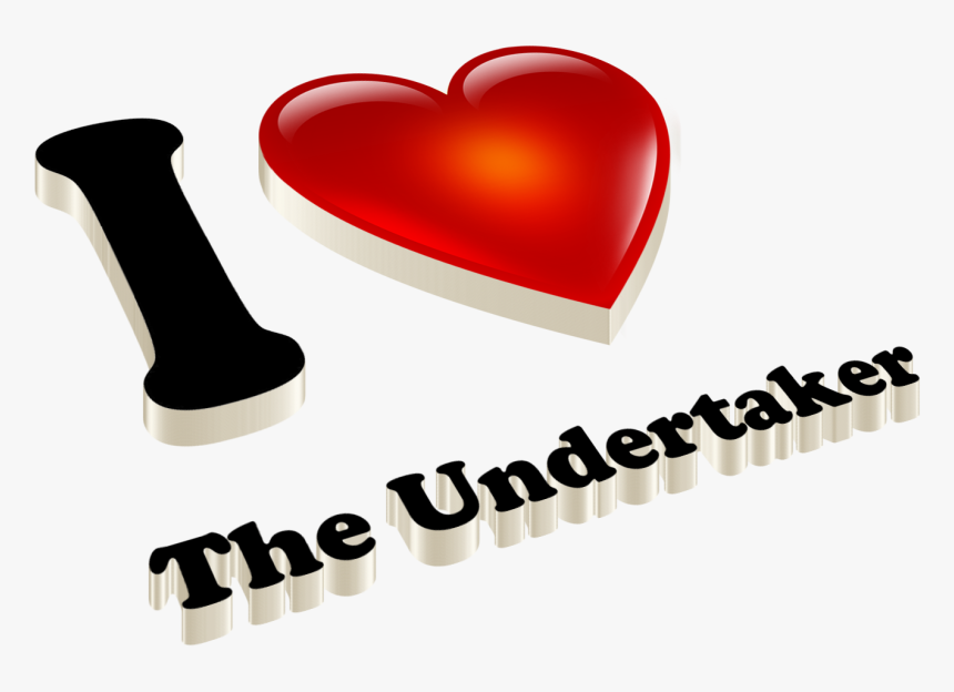 The Undertaker Heart Name Transparent Png - Heart, Png Download, Free Download