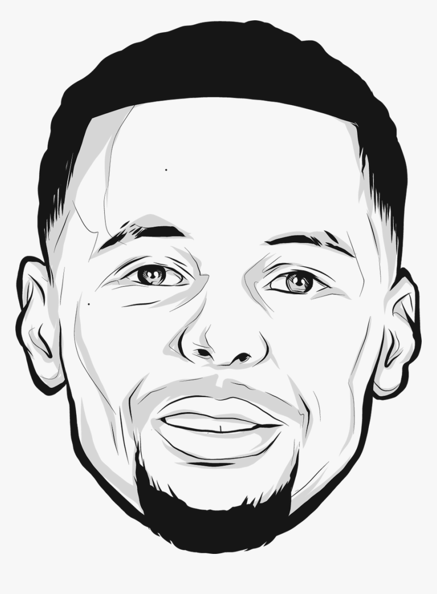 Stephen Curry Face Drawing, HD Png Download, Free Download