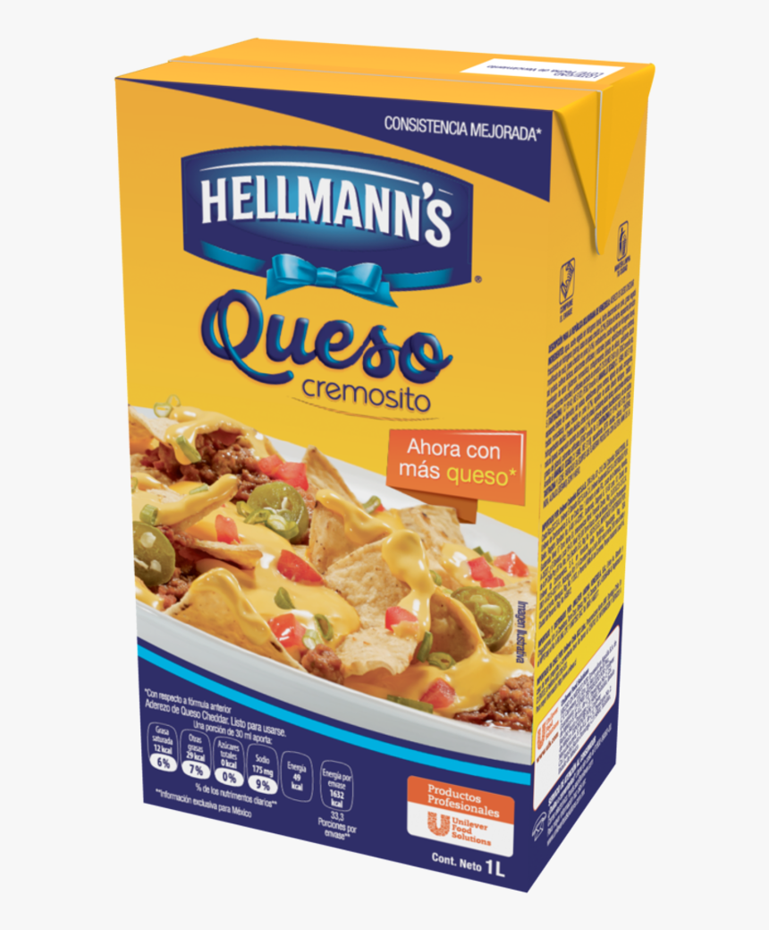 Hellmann's Cheese Aderezo Con Queso Cheddar 1 L, HD Png Download, Free Download