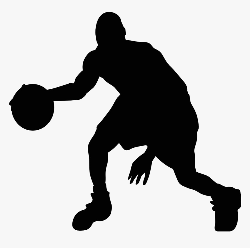 Silhouette Basketball Transparent Background Clipart Basketball Sports Silhouette Png Png Download Kindpng