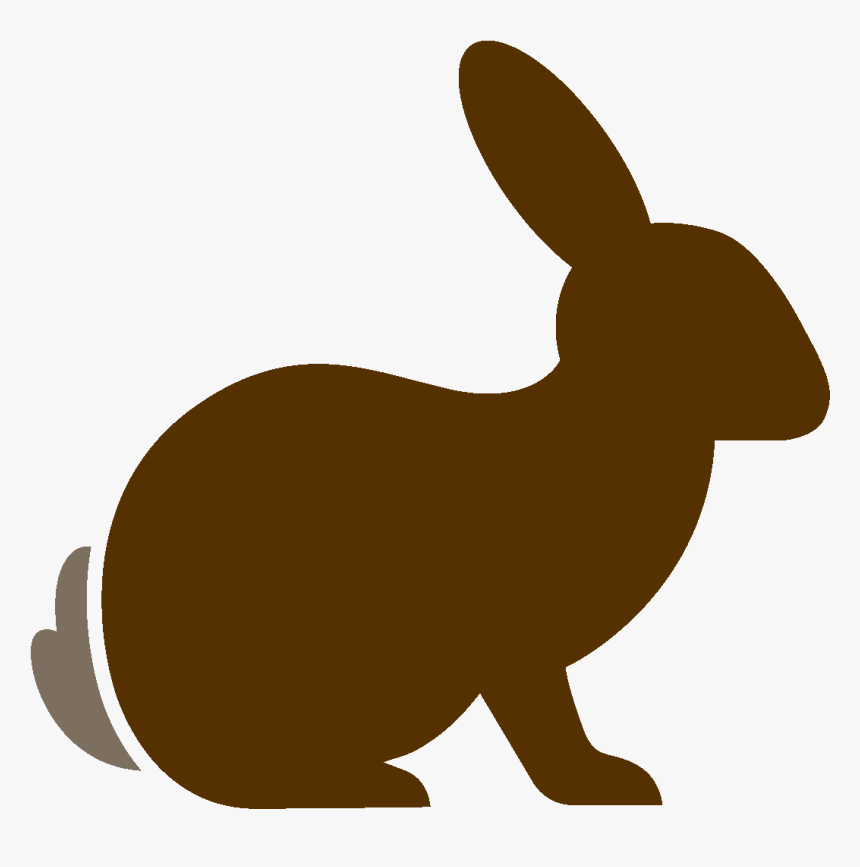 Bunny Silhouette Png - Domestic Rabbit, Transparent Png, Free Download