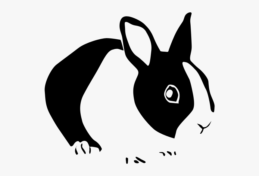 Rabbit Copy Png Postery - Black And White Rabbit Silhouette, Transparent Png, Free Download
