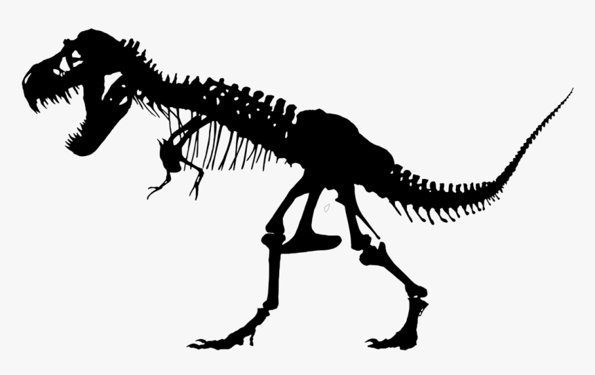 T Rex Skeleton Silhouette, HD Png Download, Free Download