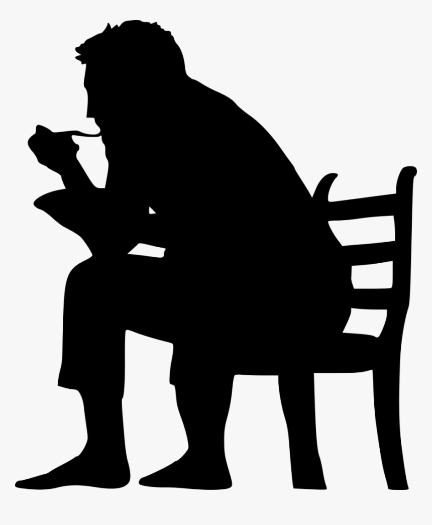 Sitting In Chair Silhouette - Silhouette, HD Png Download, Free Download