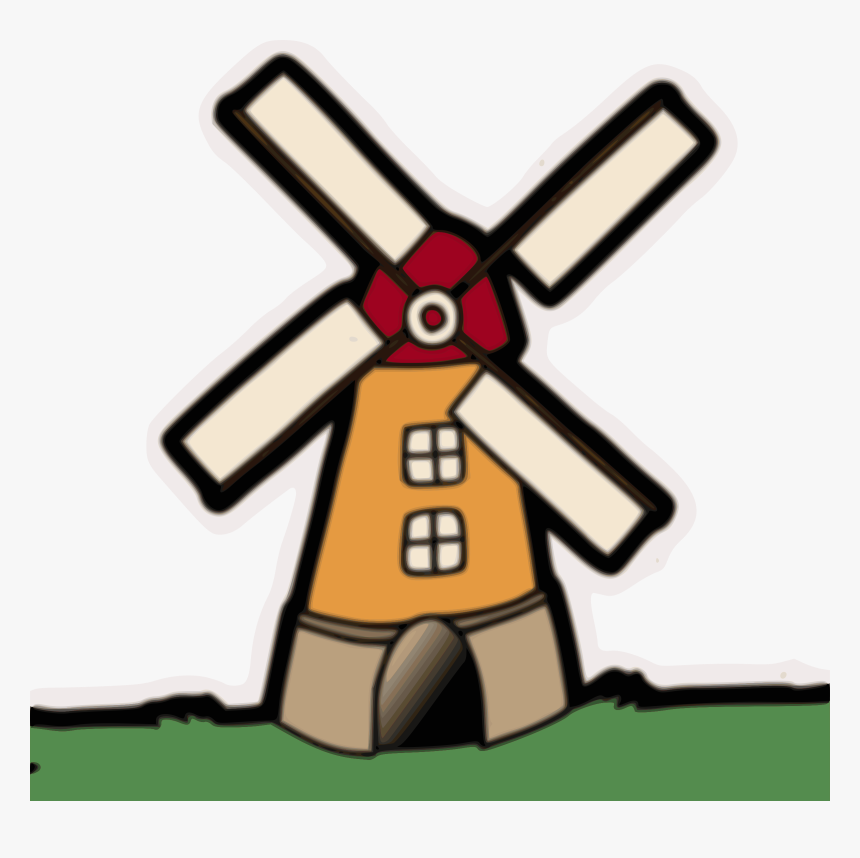 Windmill Clipart 2 - Windmill Clipart, HD Png Download, Free Download
