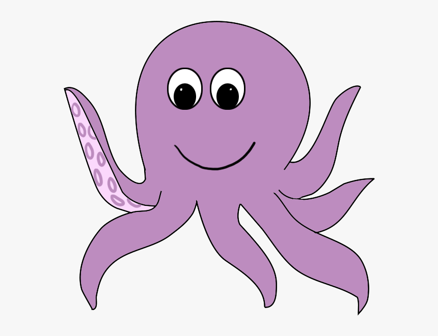 Octopus Clipart Png - Cartoon Octopus With No Background, Transparent Png, Free Download