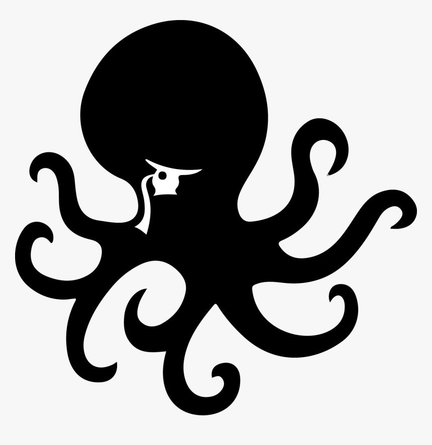 Octopus Png Black - Octopus Logo Png, Transparent Png, Free Download