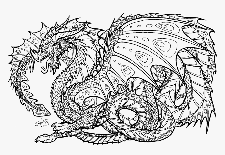 Transparent Pages Png - Hard Coloring Pages Of Dragons, Png Download -  Kindpng