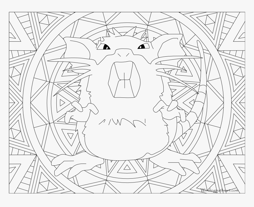Transparent Raticate Png - Mandala Pokemon Gengar, Png Download, Free Download