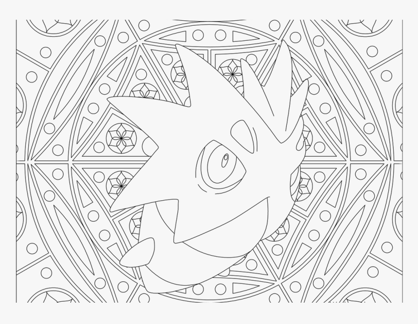 Adult Pokemon Coloring Page Pupitar - Adult Coloring Pages Pokemon, HD Png Download, Free Download