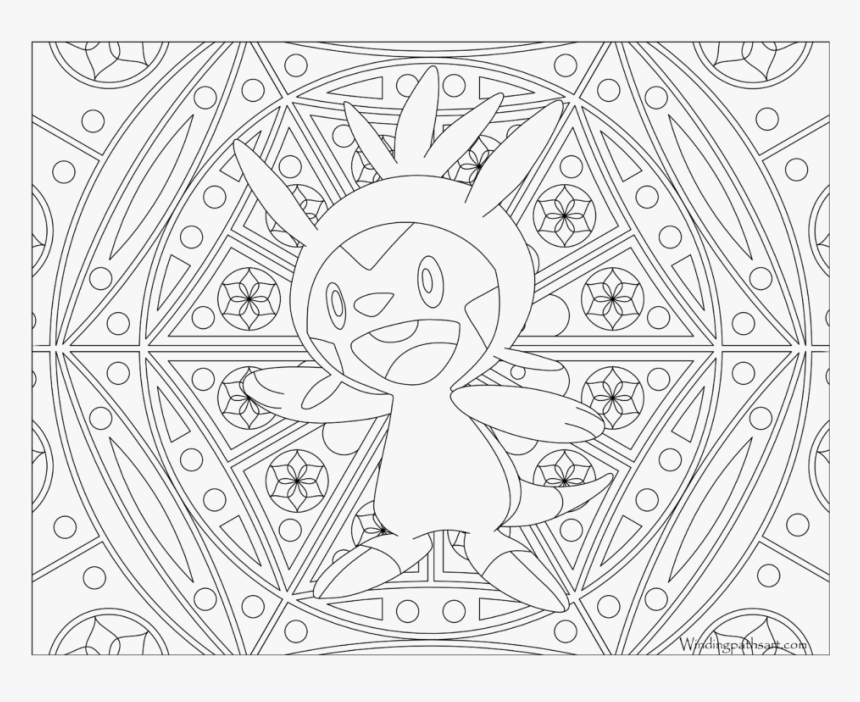 Adult Pokemon Coloring Page Chespin - Adult Coloring Pages Pokemon, HD Png Download, Free Download