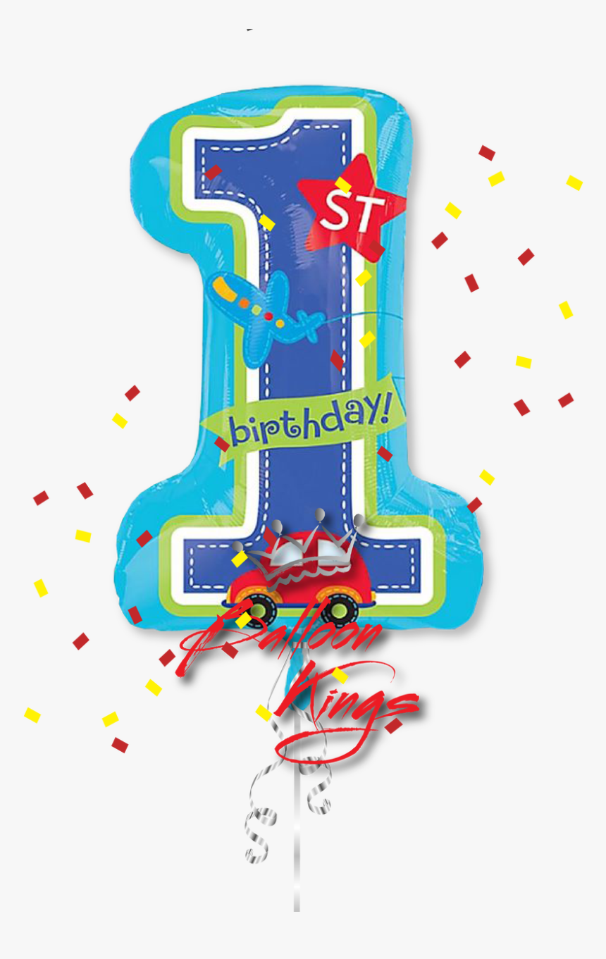 1st Birthday Boy All Aboard - Happy 1st Birthday Png, Transparent Png, Free Download