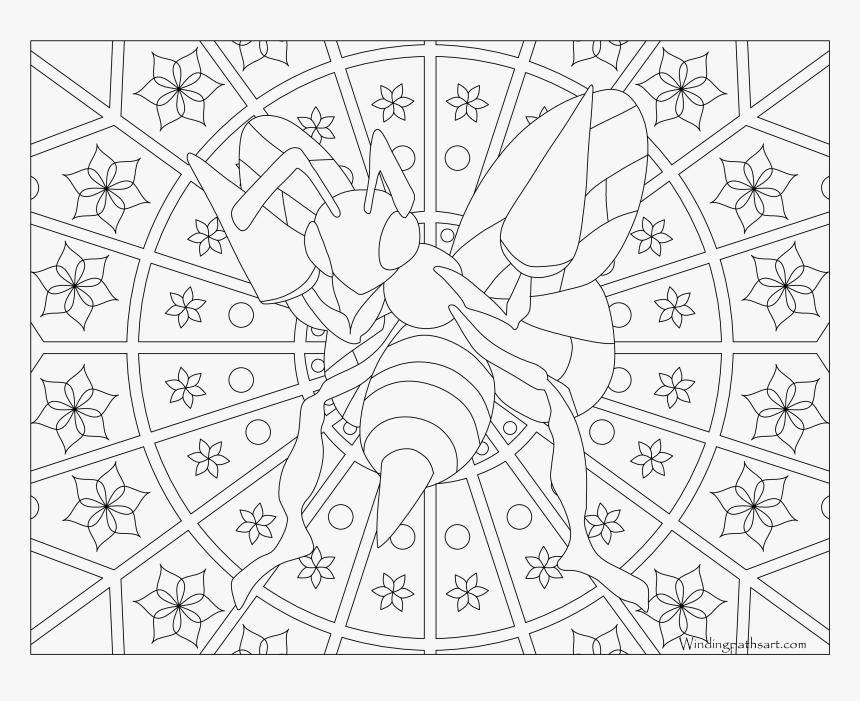 Pokemon Adult Coloring Pages , Png Download - Pokemon Mandala Coloring Pages, Transparent Png, Free Download