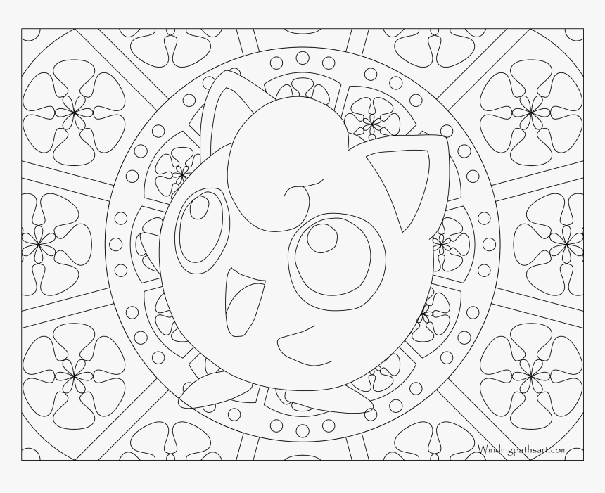 #039 Jigglypuff Pokemon Coloring Page - Pokemon Coloring Pages Adult Nidoran, HD Png Download, Free Download