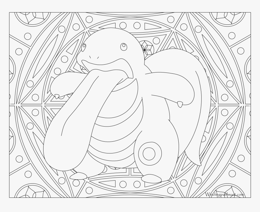 #108 Lickitung Pokemon Coloring Page - Adult Coloring Pages Pokemon, HD Png Download, Free Download