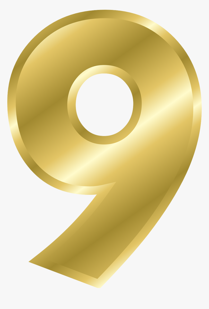 Gold Number 9 Png Clipart , Png Download - Number 9 Clipart, Transparent Png, Free Download
