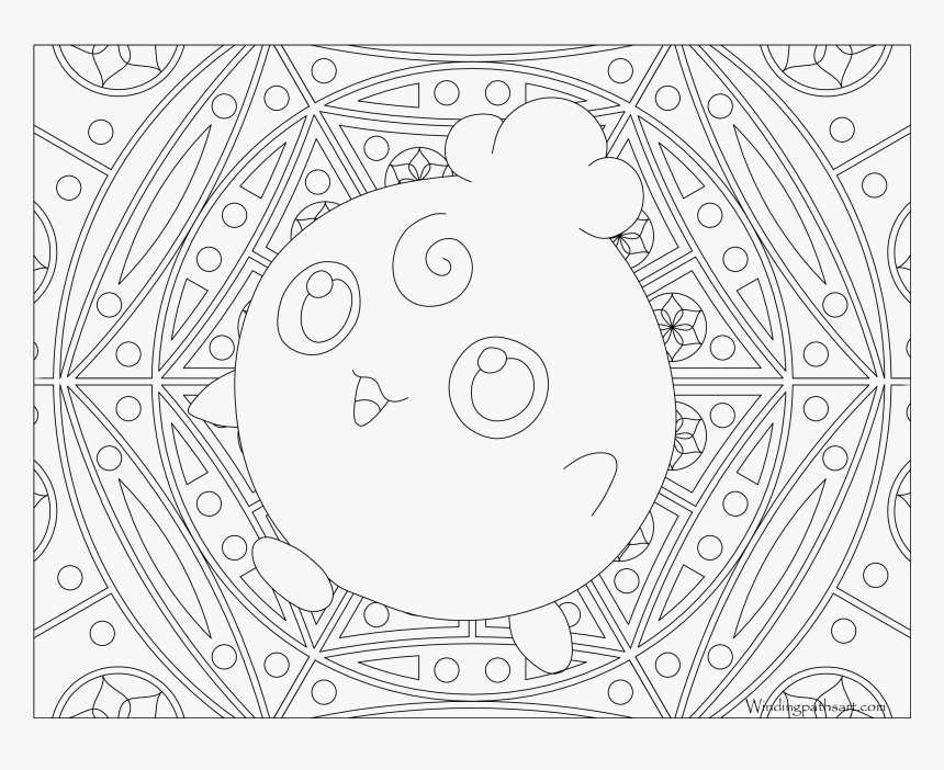 Click To See Printable Version Of Togepi Coloring Page - Pokemon Adult Coloring Pages, HD Png Download, Free Download