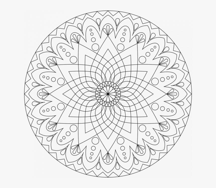 Mandala Coloring Pages Printable, HD Png Download, Free Download