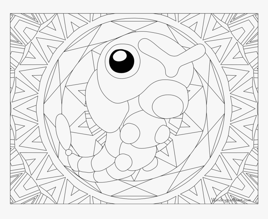 Adult Pokemon Coloring Page Caterpie - Articuno Pokemon Coloring Page, HD Png Download, Free Download