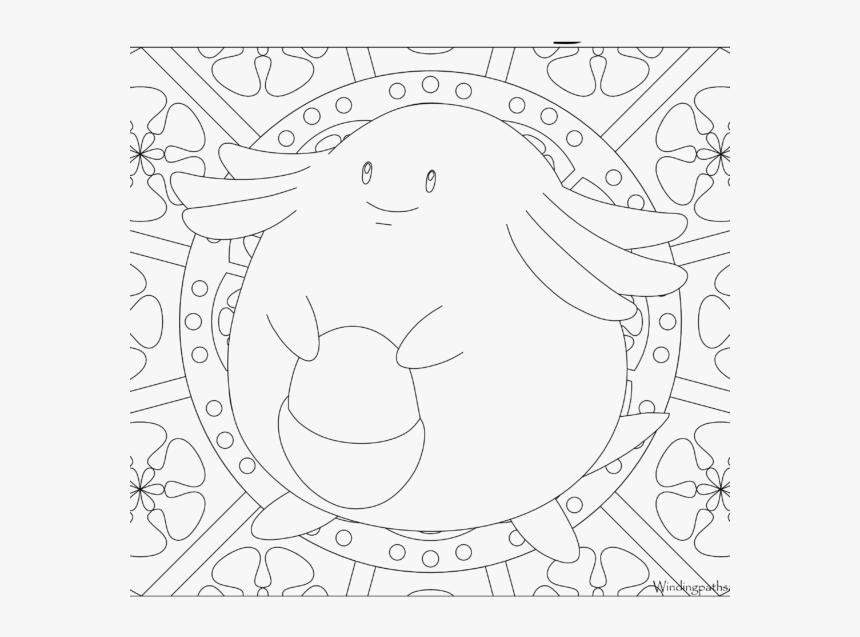 Adult Pokemon Coloring Page Chansey - Colouring Pages For Adults Pokemon, HD Png Download, Free Download