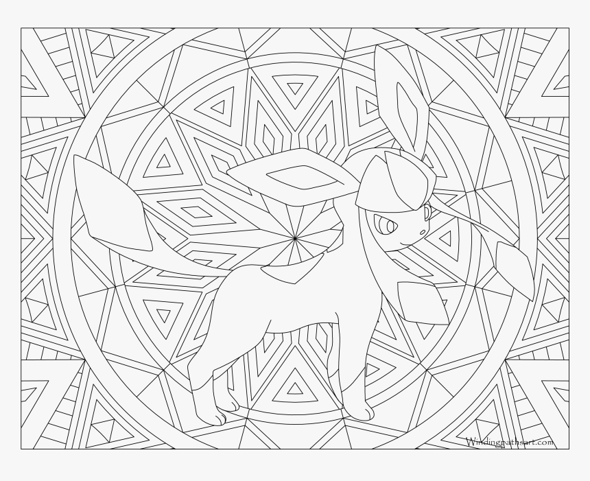 #471 Glaceon Pokemon Coloring Page - Adult Coloring Pages ...