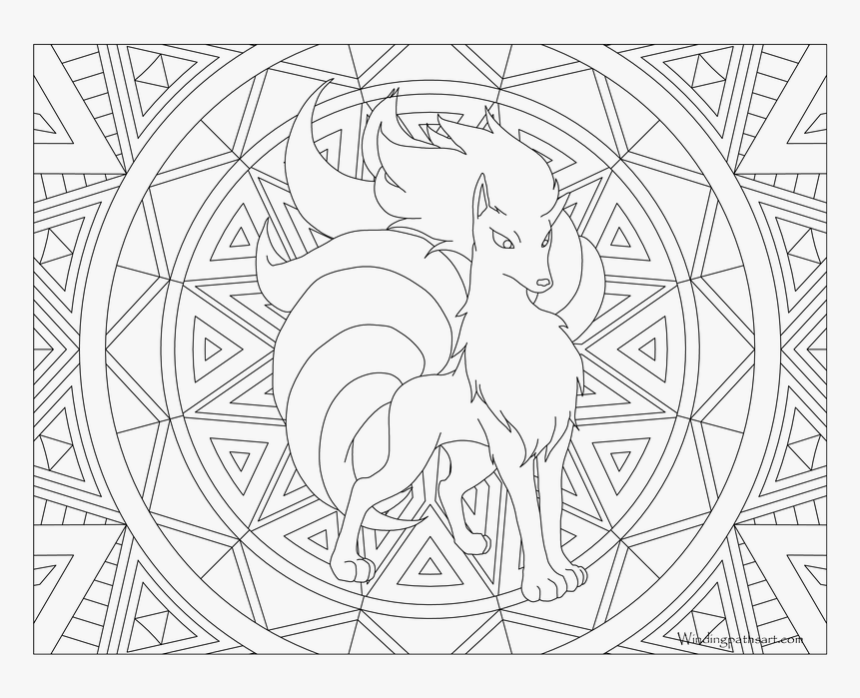 Com Coloring Page - Pokemon Coloring Pages For Adults, HD Png Download, Free Download