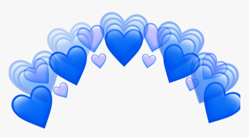 Heart Tumblr Blue Purple Hearts Crown Png Transparent - Blue Heart Crown Png, Png Download, Free Download