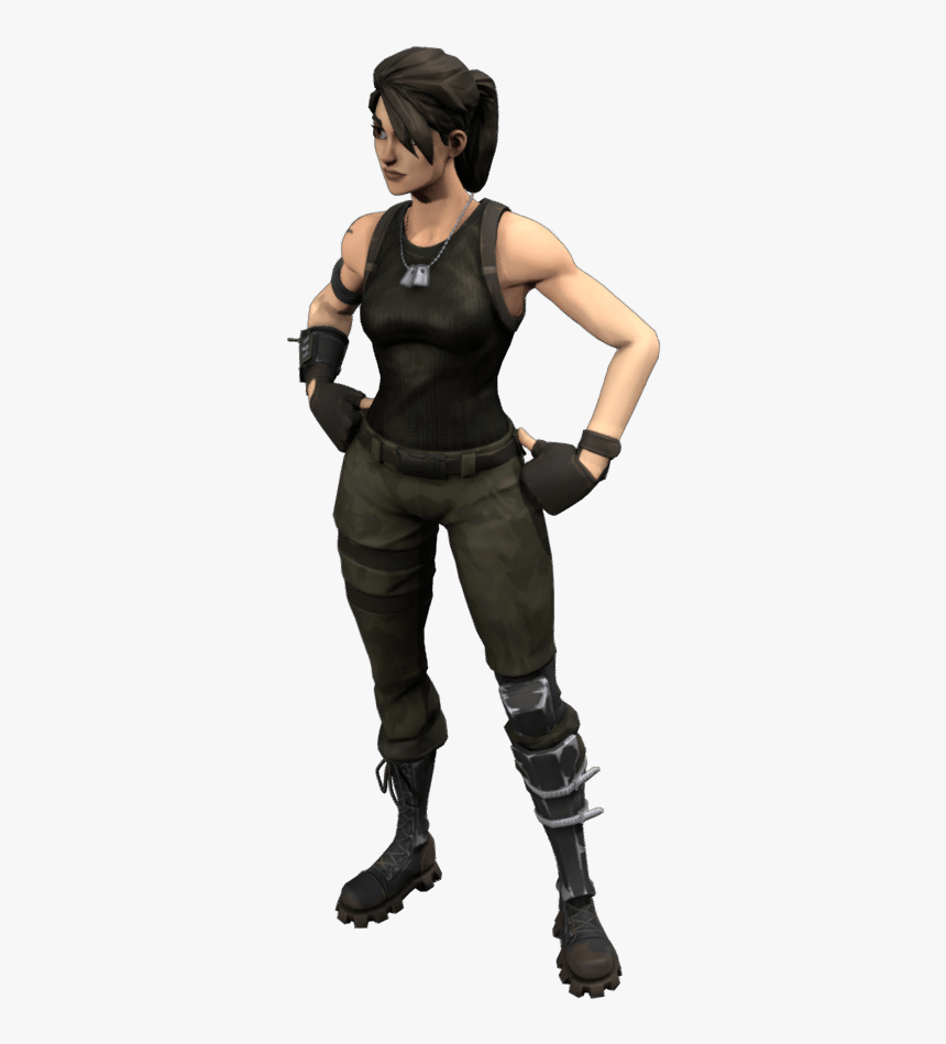 Commando Outfit - Fortnite 3d Skin Png, Transparent Png, Free Download