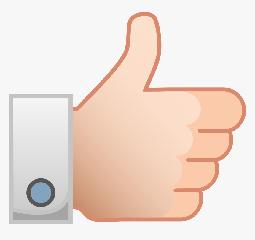 This Free Icons Png Design Of Thumbs Up Like Hand - Like Hand Png Vector, Transparent Png, Free Download