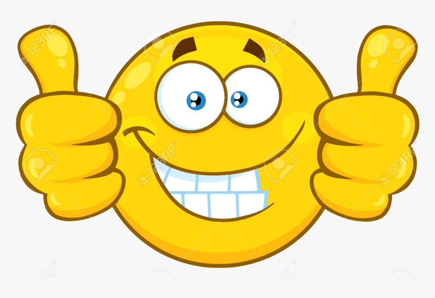 Thumbs Up Two Clipart X Transparent Png - Smiling Stars Thumbs Up, Png Download, Free Download