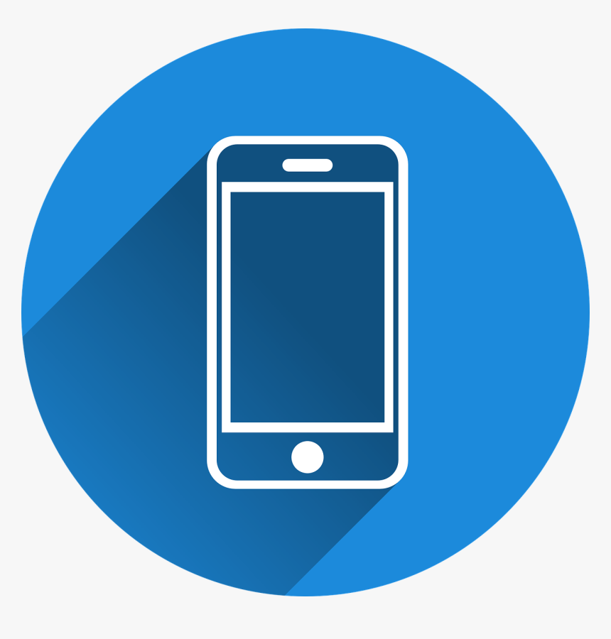 Transparent Blue Phone Icon, HD Png Download - kindpng