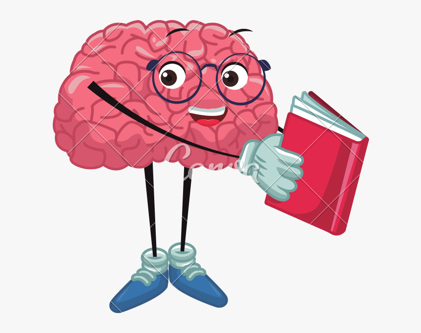 cute brain reading cartoon vector cute brain clipart transparent hd png download kindpng cute brain reading cartoon vector