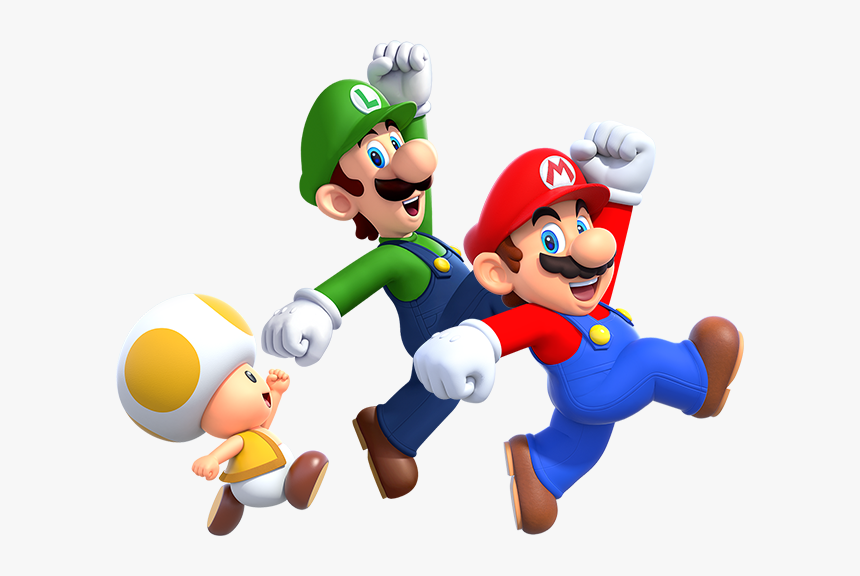 Super Mario Bros Deluxe Characters, HD Png Download, Free Download