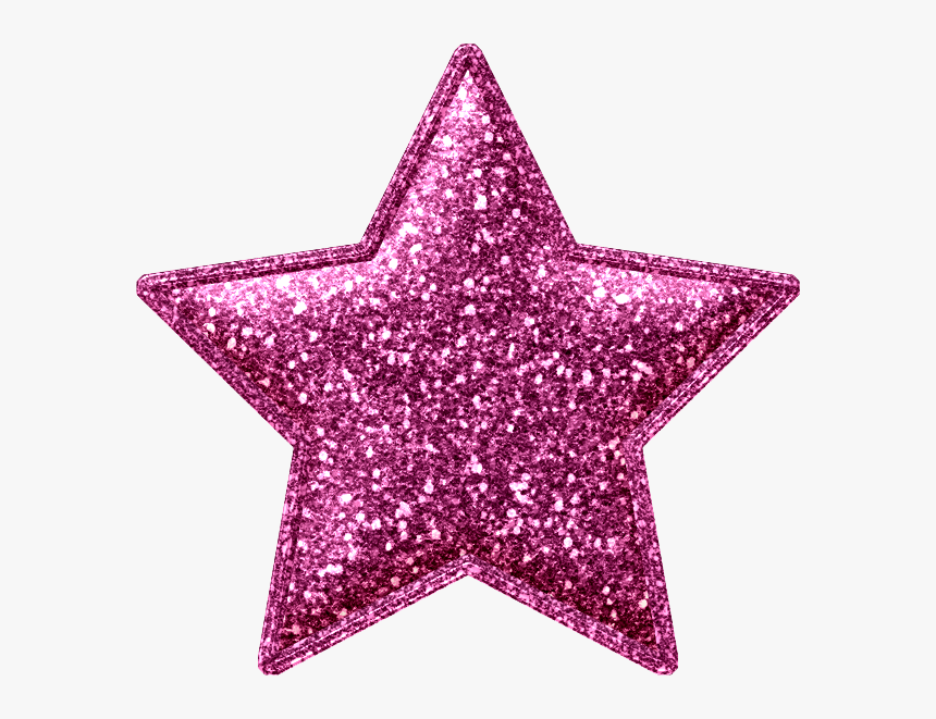 Stars - Pink Glitter Star Clipart, HD Png Download, Free Download