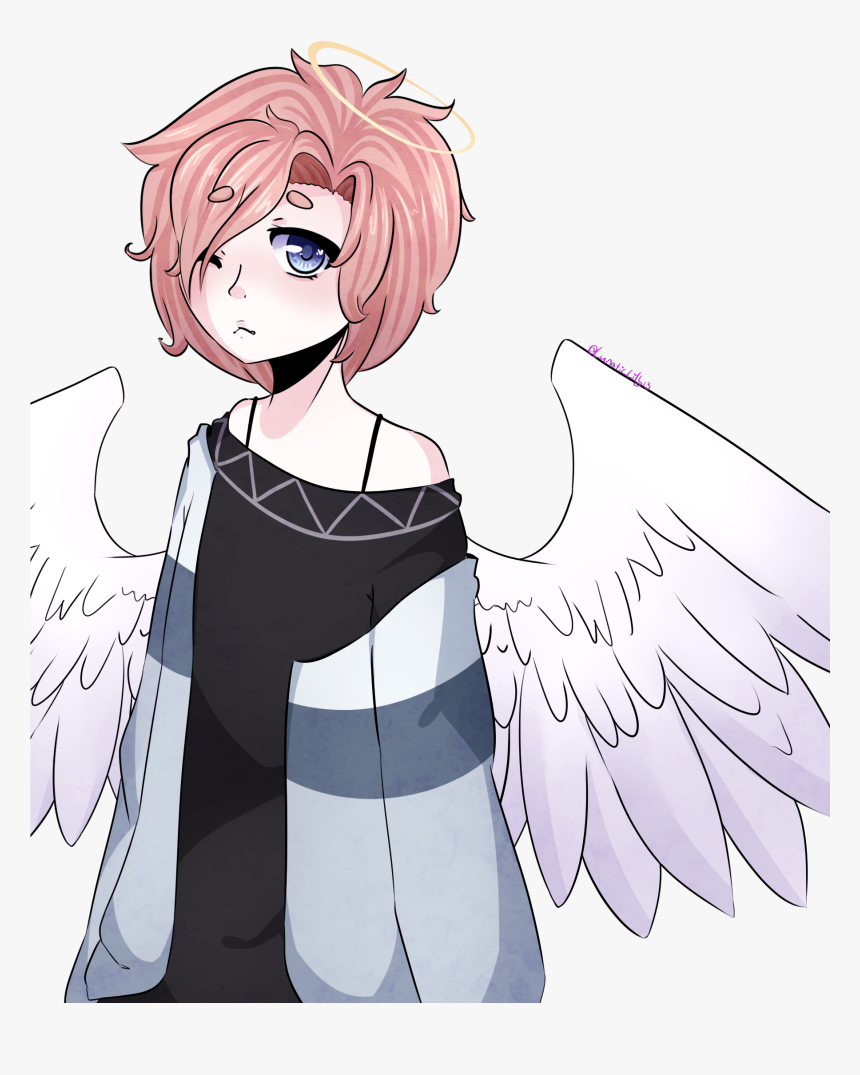 Angel Boy By Lunaticlily13 - Cute Angel Anime Girl, HD Png Download, Free Download