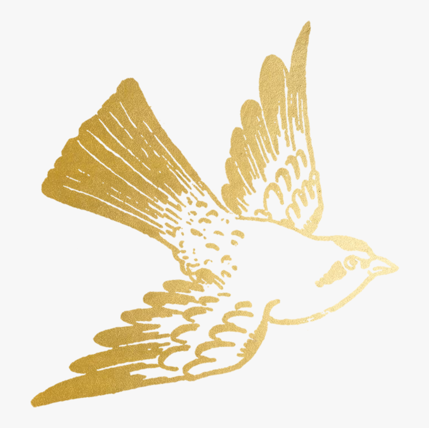 #freetoedit #ftesticker #gold #goldfoil #foil #bird - Gold Bird, HD Png Download, Free Download