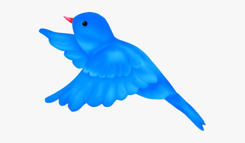 Bird Flying Clipart Of Cartoon Birds Free Transparent - Blue Bird Flying Clipart, HD Png Download, Free Download