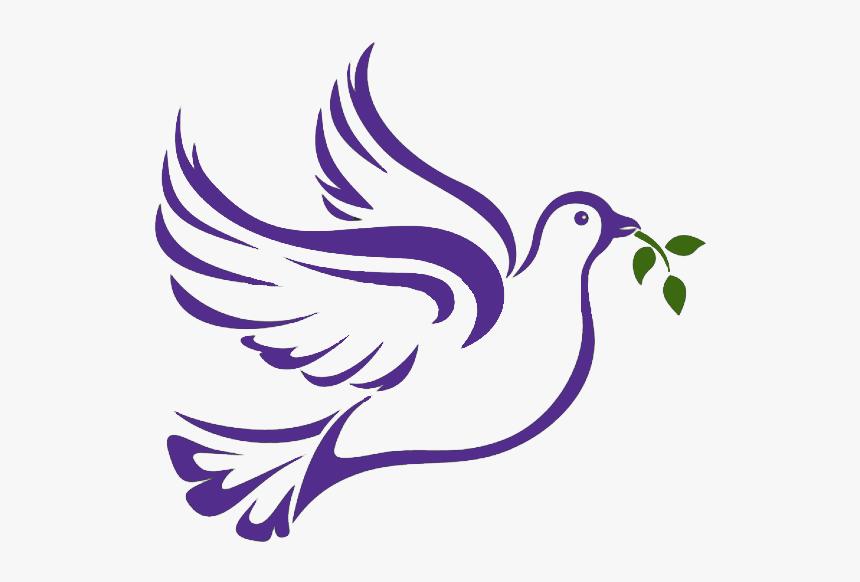 Peace Dove Png Page - Purple Doves Clip Art, Transparent Png, Free Download