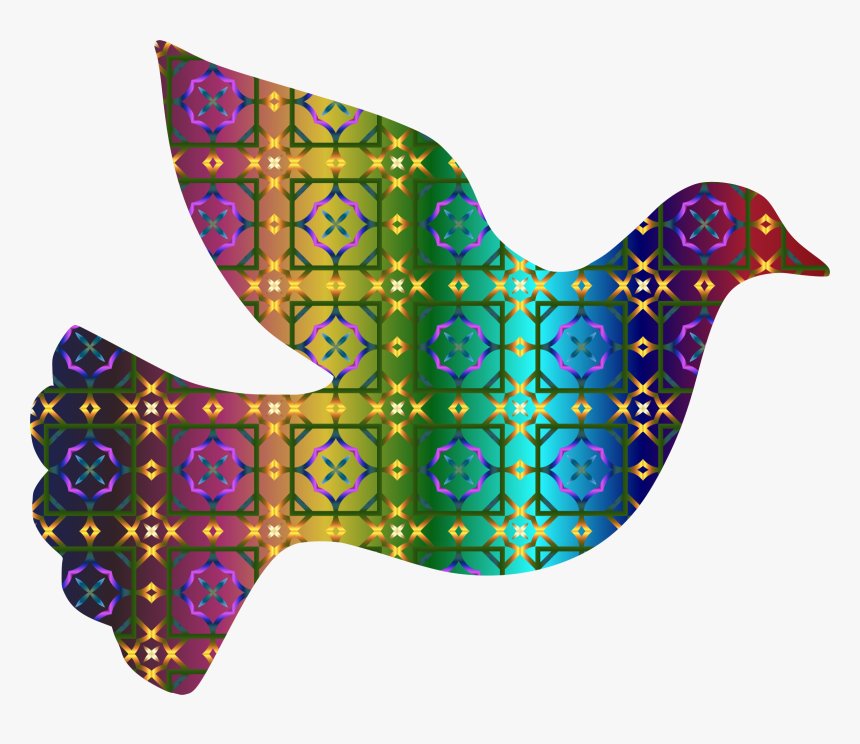 Colorful Dove Png Hd, Transparent Png - Dove Colorful Peace Symbol, Png Download, Free Download