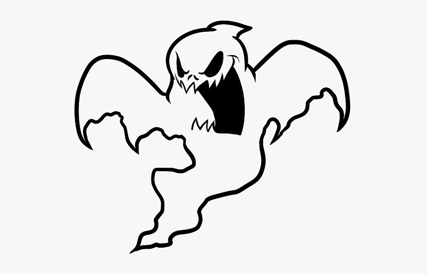 Scary Ghost Coloring Page Hd Png Download Kindpng