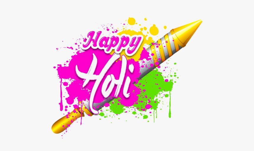 Happy Holi Png Hd - Holi Pichkari Images Png, Transparent Png, Free Download