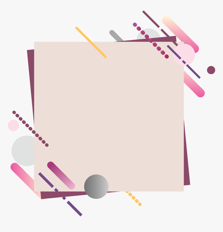 Light Pink Square Banner With Top Bottom Diagonal Abstract - Banner Square, HD Png Download, Free Download