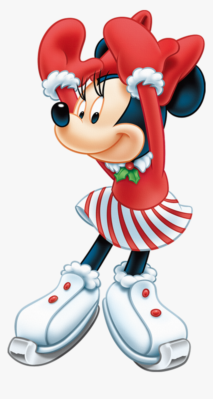 Minnie Mouse Christmas Clipart, HD Png Download, Free Download
