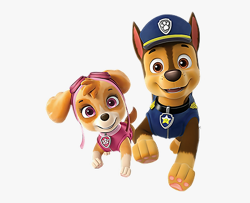 Paw Patrol Chase Y Skye - Skye And Chase Paw Patrol, HD Png Download, Free Download