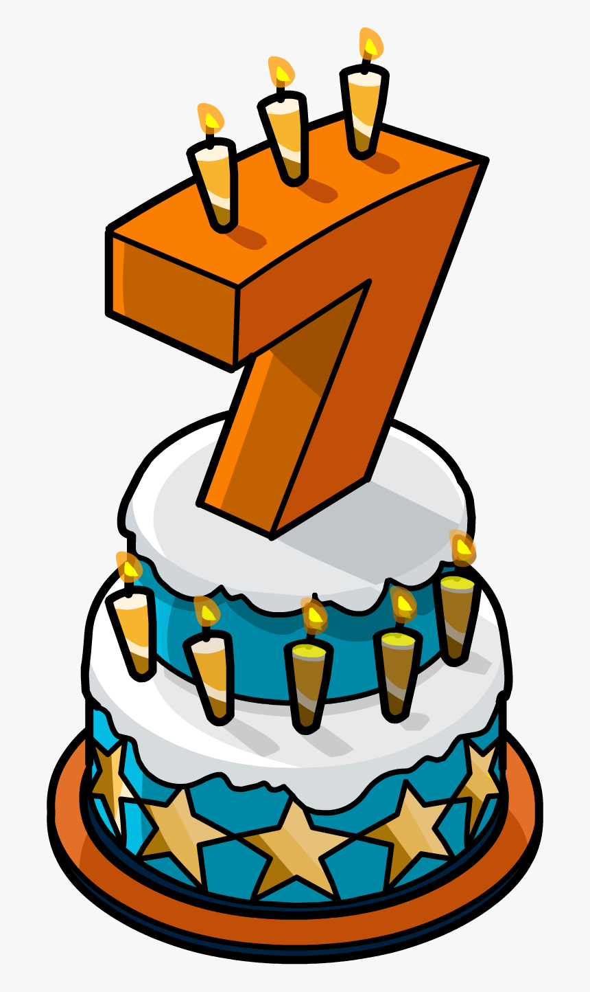 Superb Transparent Cake Png 7Th Birthday Cake Png Png Download Kind Personalised Birthday Cards Epsylily Jamesorg