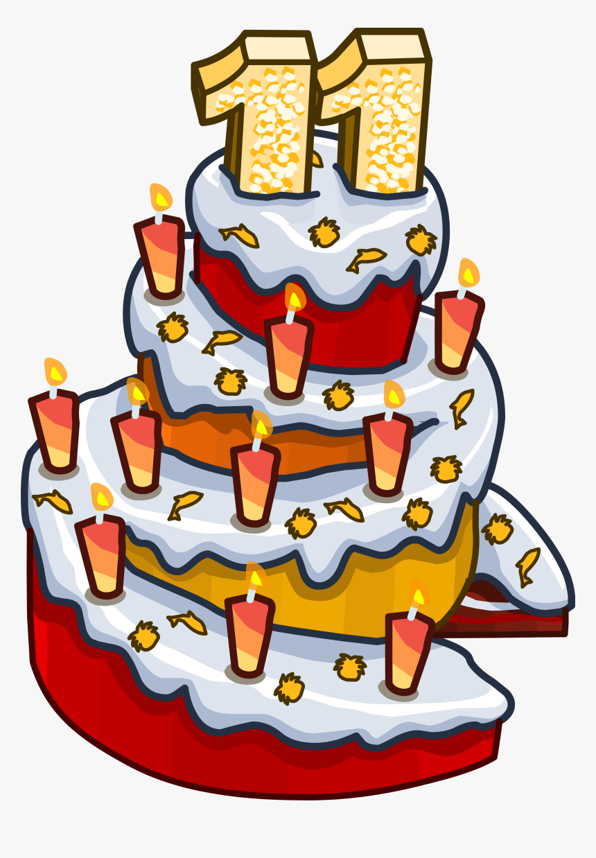 11th Anniversary Party Cake - 11th Birthday Cake Png, Transparent Png, Free Download