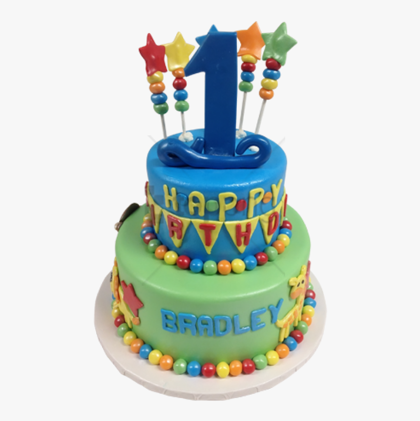 Free Png Birthday Png Image With Transparent Background - 1st Birthday Cake Png, Png Download, Free Download