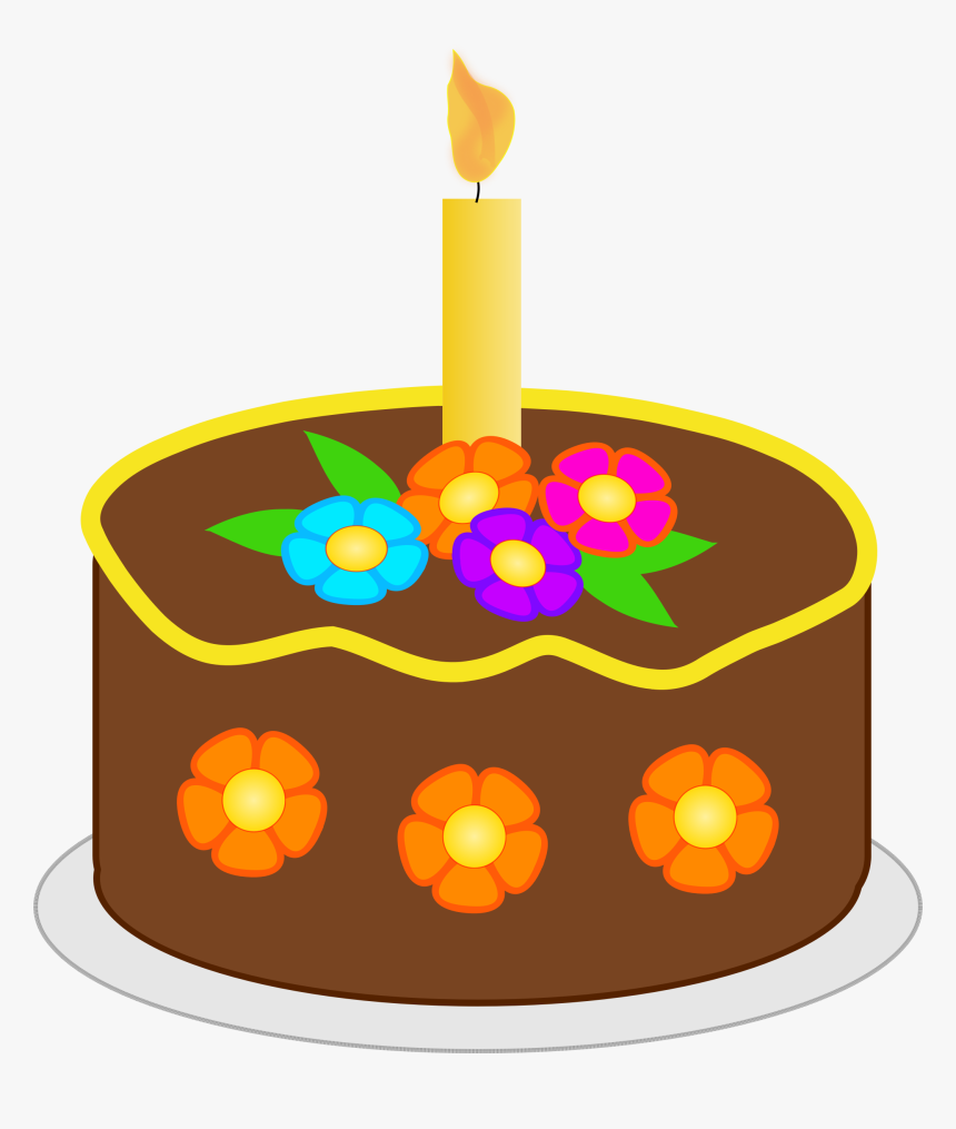 Chocolate Birthday Cake Clip Arts - Small Clip Art Birthday Cake, HD Png Download, Free Download