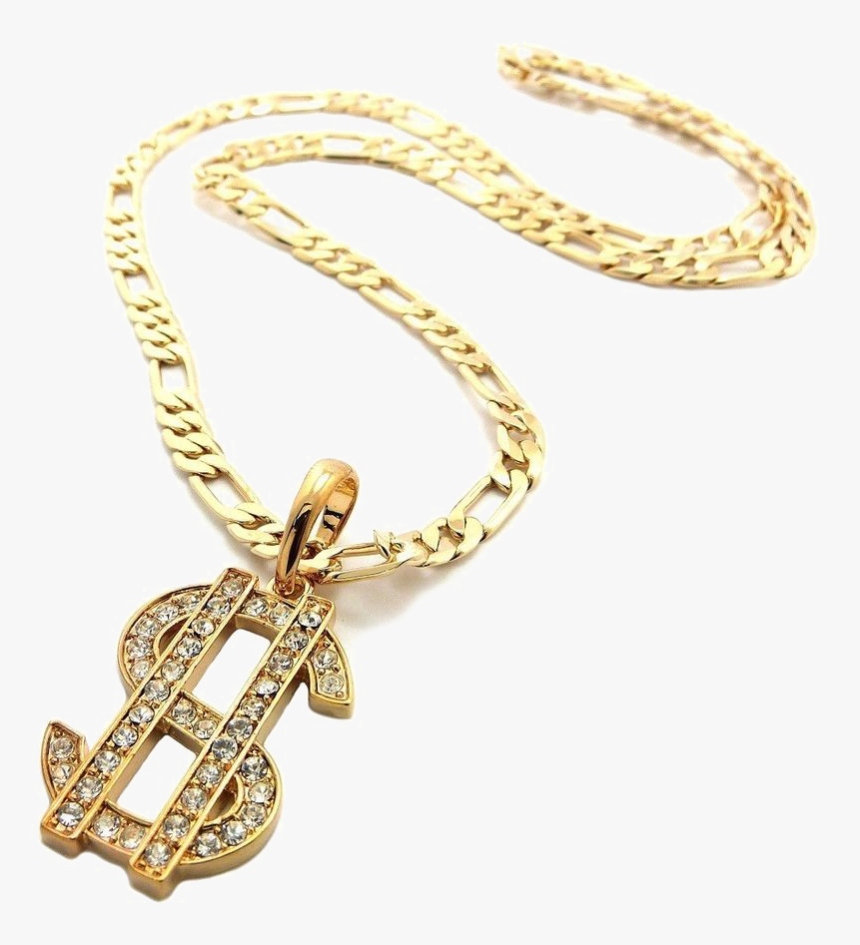 Thug Life Dollar Gold Chain Png Pic - Gold Chain Thug Png Transparent, Png Download, Free Download